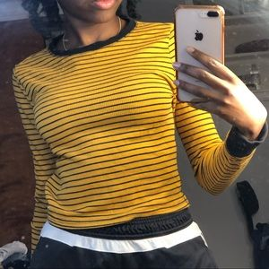 Yellow and Black Stripped Long Sleeve